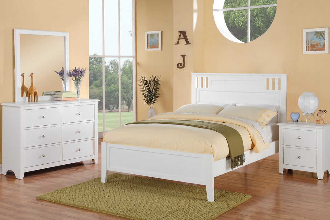 F9123T - Claire White Twin Bed - Available in Full Bed