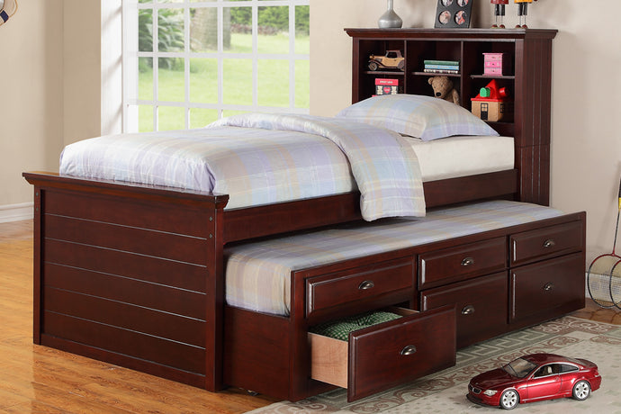Parker Twin Trundle Bed with 3 Drawers F9220