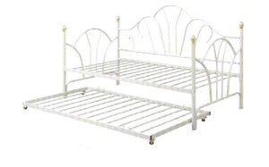 F9235 - Monique White Metal Twin Daybed