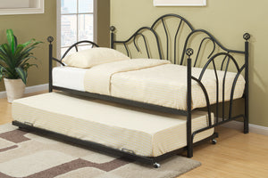 F9237 - Monique Black Metal Twin Daybed