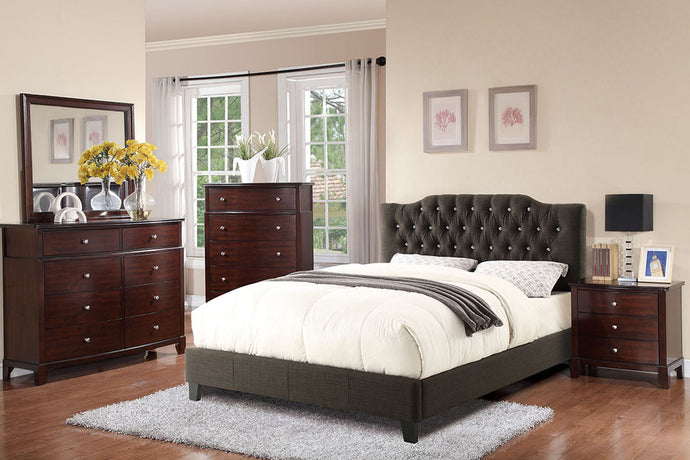 F9332Q - Madden Ash Black Polyfiber Queen Platform Bed - Available in Full