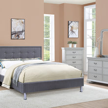 F9395Q - Nevio Blue Grey Queen Platform Bed - Available in Full