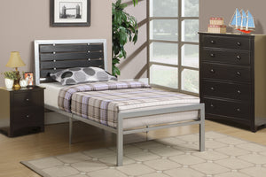 F9412T - Silver Grey Metal Twin Bed