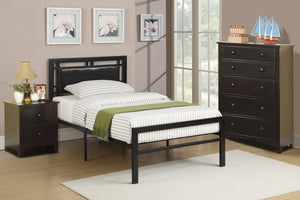 F9413T Addison Black Metal Twin Bed