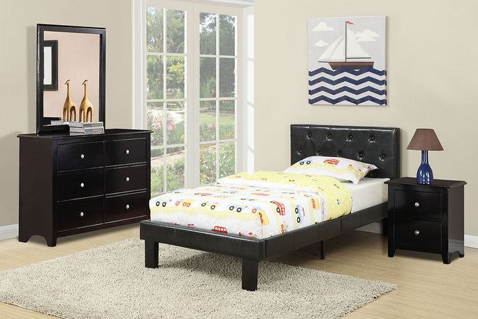 F9416T - Kelly Black Twin Bed - Available in Full Bed
