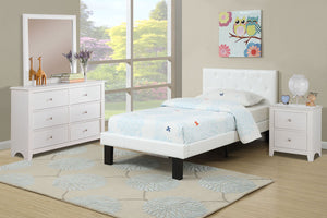 F9416T - Kelly White Twin Bed - Available in Full Bed