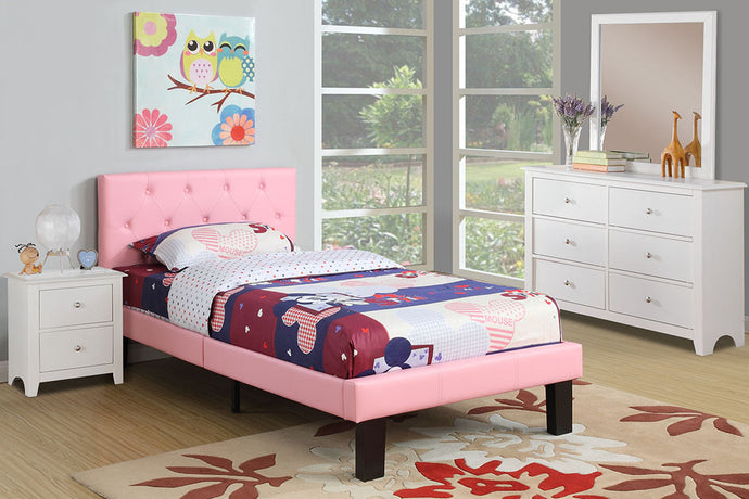 F9417T - Kelly Pink Twin Bed - Available in Full Bed