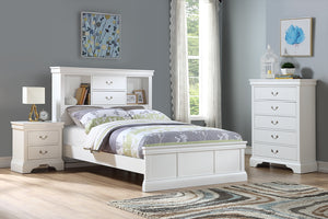 F9422T - Jenny White Twin Bed - Available in Full Bed