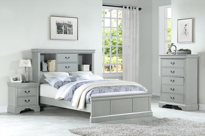 F9423T - Jenny Grey Twin Bed - Available in Full Bed