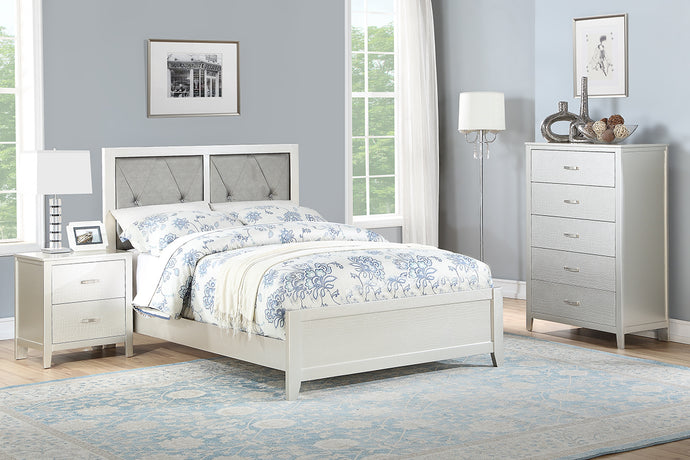 F9426T - Emory Silver Twin Bed - Available in Full Bed