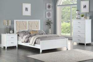 F9427T - Emory White Twin Bed - Available in Full Bed