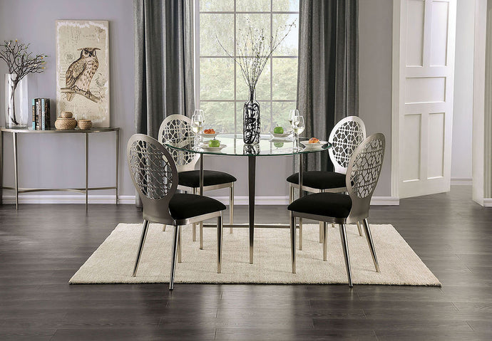 FOA3743T - Abner Glass Top Dining Table Set