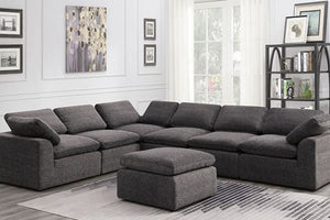 CM697GY-6SEAT -Joel Gray Finish Large Sectional