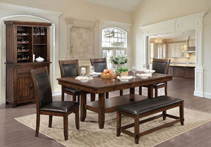 CM3152T Meagan I Wood Top Dining Table Set