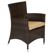 BAD-108 Doha 9-Piece Dark Brown All Weather Wicker Dining Furniture By The-Hom