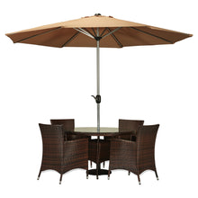 BAD-2217 Gita 6-Piece Espresso Brown All-weather Wicker Patio Dining Furniture Set By The-Hom