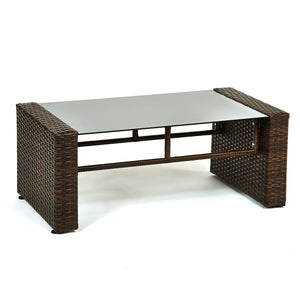 BAS-2236 Roatan Seating Group Outdoor Wicker Furniture in Beige and Espresso Brown Finish By The-Hom