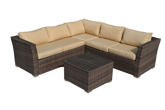 BAS-2617-G Mirge All Weather Wicker Patio Seating Set in Gray & Beige Cushions By The-Hom