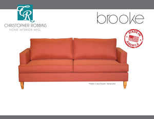 Christopher Robbins Sofa Collection - Custom Fabric Upholstery - Brooke Sofa Made In USA - CALL FOR PRICING