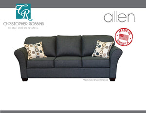 Christopher Robbins Sofa Collection - Custom Fabric Upholstery - Allen Sofa Made In USA - CALL FOR PRICING