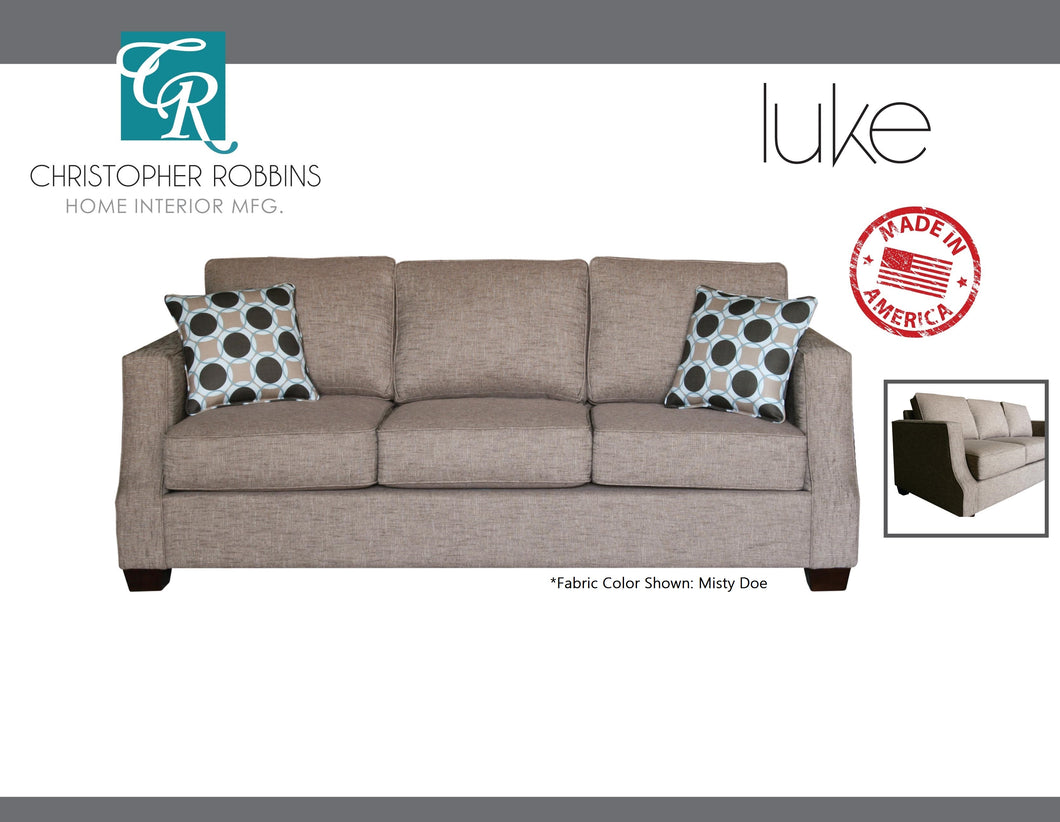 Christopher Robbins Sofa Collection - Custom Fabric Upholstery - Luke Sofa Made In USA - CALL FOR PRICING