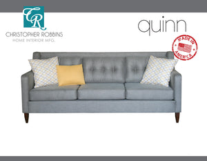 Christopher Robbins Sofa Collection - Custom Fabric Upholstery - Quinn Sofa Made In USA - CALL FOR PRICING