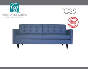 Christopher Robbins Sofa Collection - Custom Fabric Upholstery - Tess Sofa Made In USA - CALL FOR PRICING