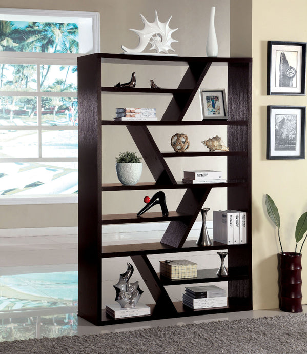 CM-AC118 - Kamloo Contemporary Style Zigzag Display Bookshelf