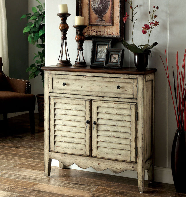 CM-AC148 - Hazen Antique White Storage Cabinet