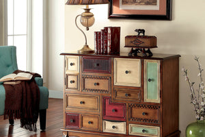 CM-AC149 Accent Chest - Desree Vintage Style Accent Chest with 9 Drawers