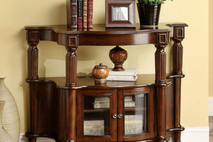 CM-AC201 Sofa Table - Southampton Antique Walnut Finish Traditional Style Sofa Table