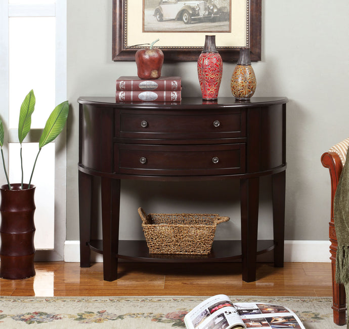CM-AC211 Hallway Storage Cabinet - Chanti Transitional Style Espresso Finish Hallway Storage Cabinet