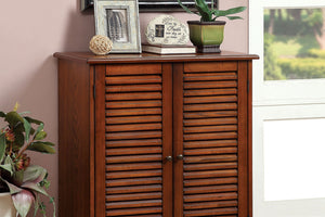 CM-AC213A Storage Cabinet - Della Oak Finish Storage Cabinet with Adjustable Shelves