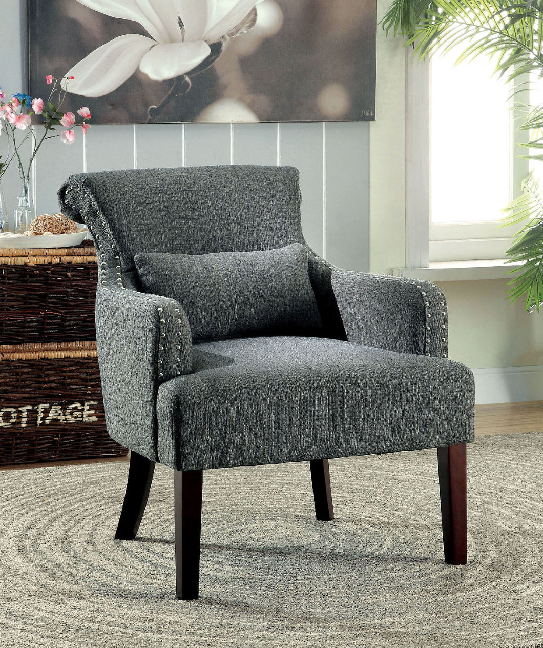 CM-AC6113GY - Agalva Contemporary Style Accent Chair
