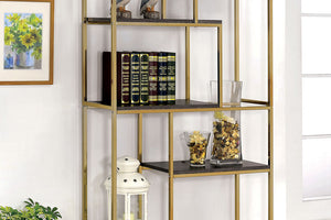 CM-AC6264 Display Shelf - Elvira Contemporary Style Chrome Finish - Metal Construction Display Bookshelf
