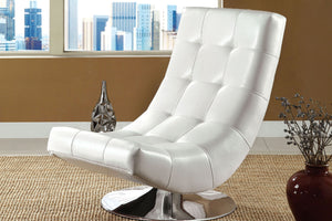 CM-AC6912WH - Trinidad Swivel Accent Chair