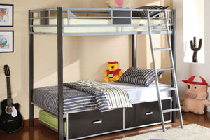 CM-BK1011 - Cletis Twin over Twin Metal Bunk Bed