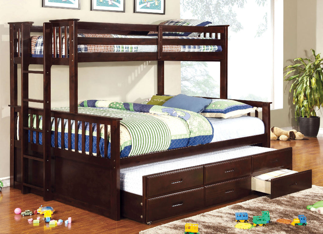 CM-BK458Q-EXP - University Twin-XL/Queen Bunk Bed