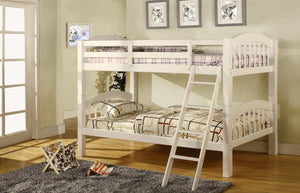CM-BK524WH - Coney Island Twin over Twin Bunk Bed