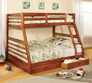 CM-BK588A - California III Twin/Full Bunk Bed with 2 Drawers