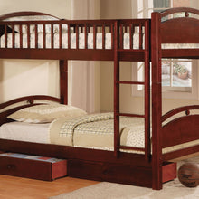 CM-BK600CH - California Twin/Twin Bunk Bed with Drawers