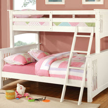 CM-BK602F-WH - Spring Creek Twin/Full Bunk Bed