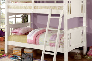 CM-BK602T-WH - Spring Creek Twin/Twin Bunk Bed