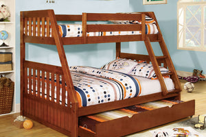 CM-BK605A - Canberra Oak Twin over Full Bunk Bed