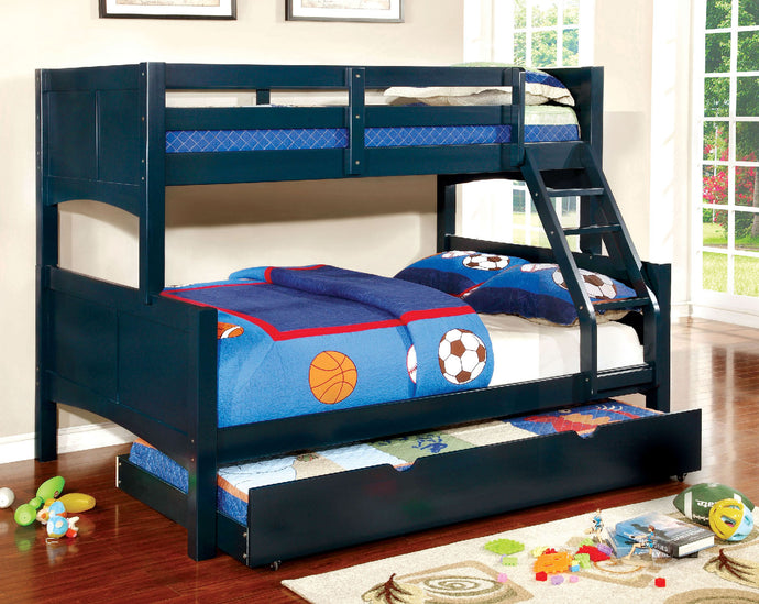 CM-BK608F-BL - Prismo Twin over Full Bunk Bed