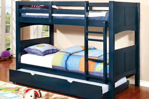 CM-BK608T-BL - Prismo Blue Twin over Twin Bunk Bed