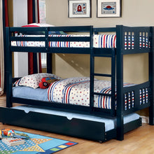 CM-BK929BL - Cameron Blue Twin over Twin Bunk Bed