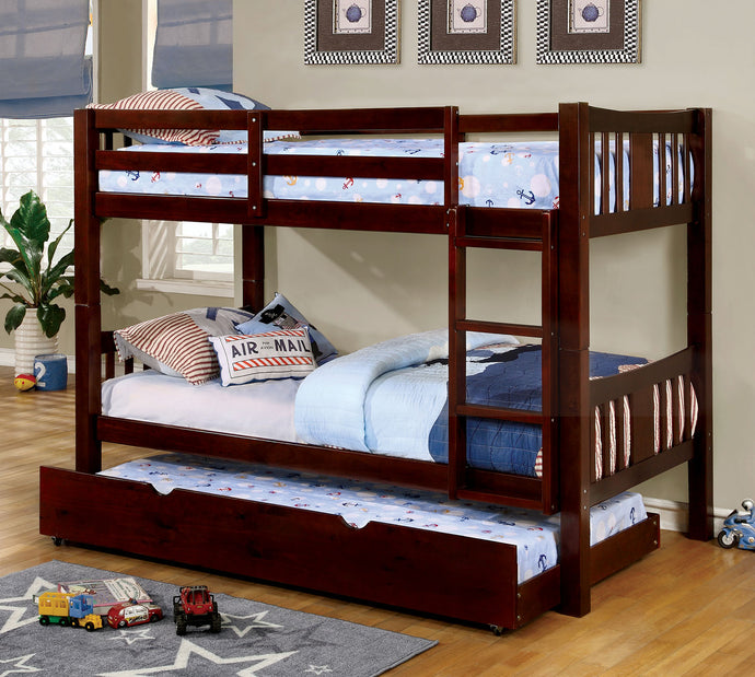 CM-BK929EX - Cameron Dark Walnut Twin over Twin Bunk Bed