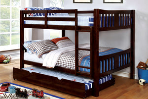CM-BK929F-EX - Cameron Dark Walnut Full over Full Bunk Bed