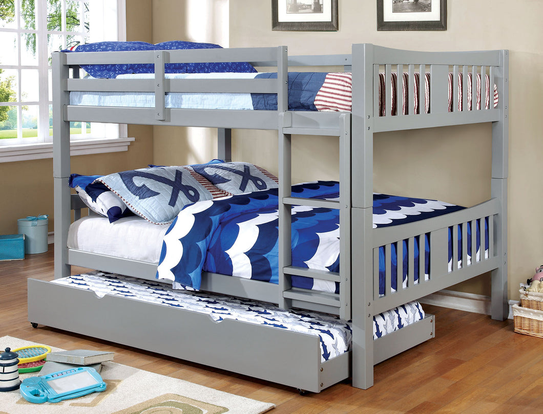 CM-BK929F-GY - Cameron Grey Full over Full Bunk Bed